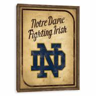 Notre Dame Fighting Irish Vintage Card Recessed Box Wall Decor