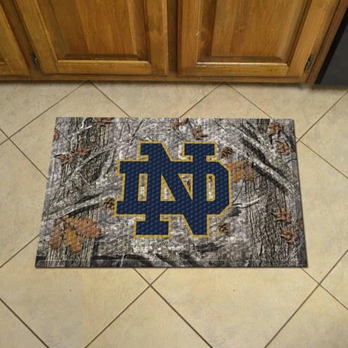 Notre Dame Fighting Irish Camo Scraper Door Mat