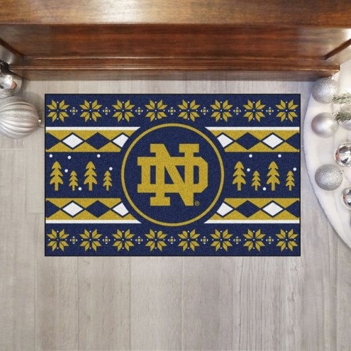 Notre Dame Fighting Irish Christmas Sweater Starter Rug