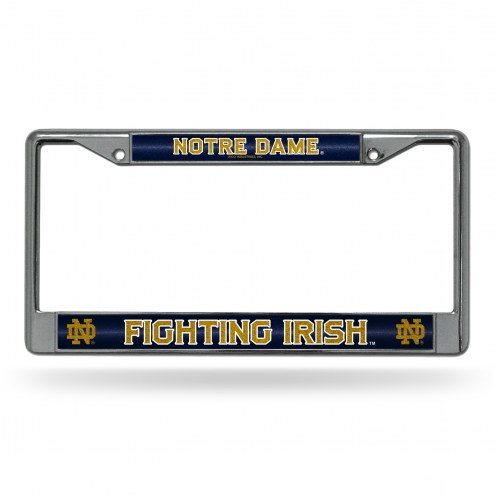 Notre Dame Fighting Irish Chrome Glitter License Plate Frame