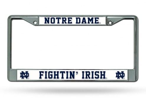 Notre Dame Fighting Irish Chrome License Plate Frame