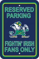 Notre Dame Fighting Irish College Parking Sign