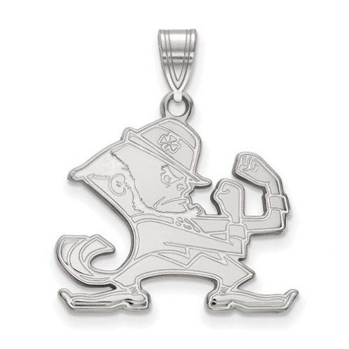 Notre Dame Fighting Irish Sterling Silver Large Pendant