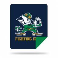 Notre Dame Fighting Irish Denali Sliver Knit Throw Blanket
