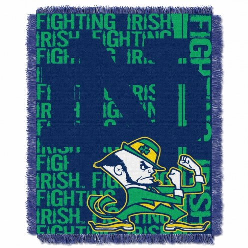 Notre Dame Fighting Irish Double Play Woven Throw Blanket