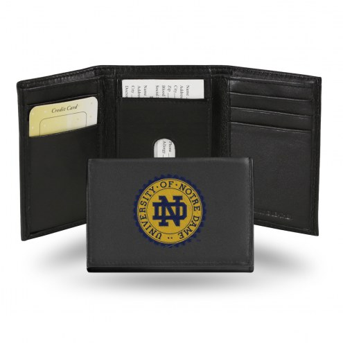 Notre Dame Fighting Irish Embroidered Leather Tri-Fold Wallet