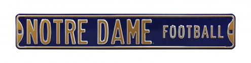 Notre Dame Fighting Irish Football Street Sign