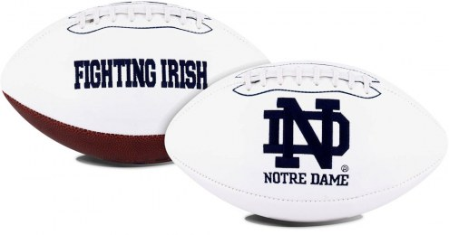 Notre Dame Fighting Irish Full Size Embroidered Signature Series Football