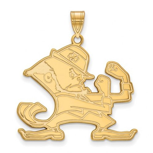 Notre Dame Fighting Irish Sterling Silver Gold Plated Extra Large Pendant