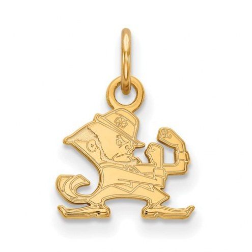 Notre Dame Fighting Irish Sterling Silver Gold Plated Extra Small Pendant