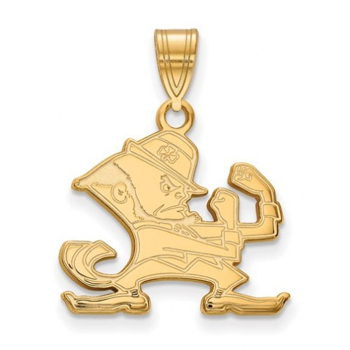 Notre Dame Fighting Irish Sterling Silver Gold Plated Medium Pendant