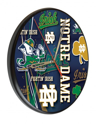 Notre Dame Fighting Irish Digitally Printed Wood Clock