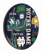 Notre Dame Fighting Irish Digitally Printed Wood Clock