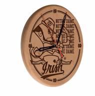 Notre Dame Fighting Irish Laser Engraved Wood Clock