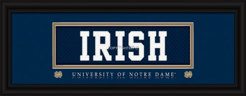 "Notre Dame Fighting Irish ""Irish"" Stitched Jersey Framed Print"