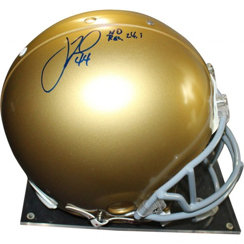 Notre Dame Fighting Irish Justin Tuck Signed Full Size Helmet w/ ND 24.5 Rec