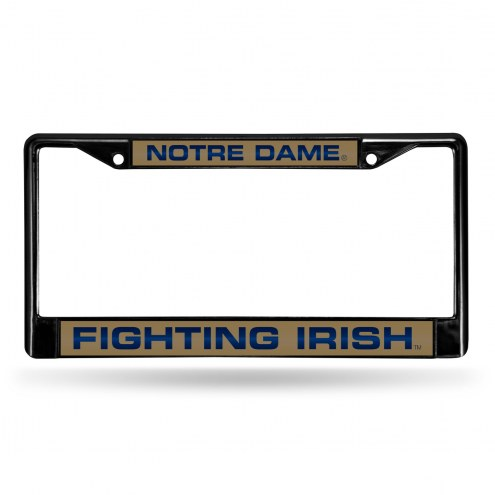 Notre Dame Fighting Irish Laser Black License Plate Frame