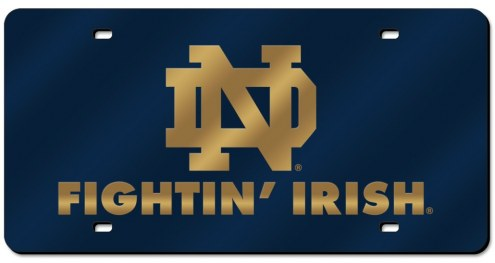Notre Dame Fighting Irish Laser Cut Navy License Plate