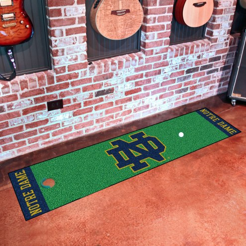 Notre Dame Fighting Irish Leprechaun Golf Putting Green Mat