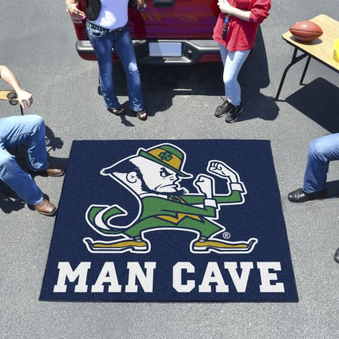 Notre Dame Fighting Irish Leprechaun Man Cave Tailgate Mat