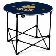 Notre Dame Fighting Irish Round Folding Table
