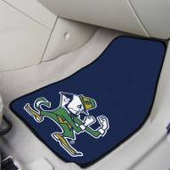 Notre Dame Fighting Irish Logo 2-Piece Carpet Car Mats