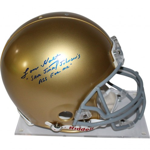 Notre Dame Fighting Irish Lou Holtz Signed Authentic Helmet