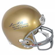 Notre Dame Fighting Irish Lou Holtz Signed Replica Helmet w/ 1988 National Champs