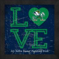 Notre Dame Fighting Irish Love My Team Color Wall Decor