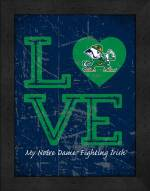 Notre Dame Fighting Irish Love My Team Vertical Color Wall Decor