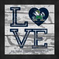 Notre Dame Fighting Irish Love My Team Square Wall Decor