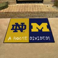 Notre Dame Fighting Irish/Michigan Wolverines House Divided Mat