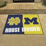 Notre Dame Fighting Irish/Michigan Wolverines House Divided Mat