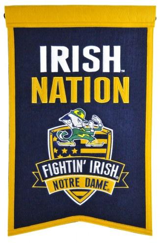 Notre Dame Fighting Irish Nations Banner