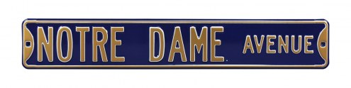 Notre Dame Fighting Irish Navy Street Sign
