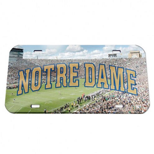 Notre Dame Fighting Irish Crystal Mirror License Plate