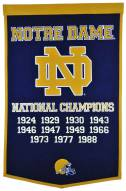 Winning Streak Notre Dame Fighting Irish NCAA Football Dynasty Banner