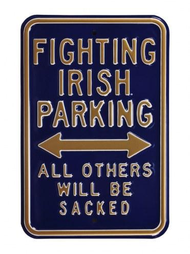 Notre Dame Fighting Irish NCAA Embossed Parking Sign