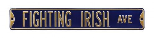 Notre Dame Fighting Irish NCAA Embossed Street Sign
