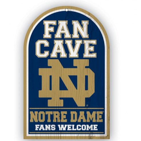 Notre Dame Fighting Irish Fan Cave Wood Sign