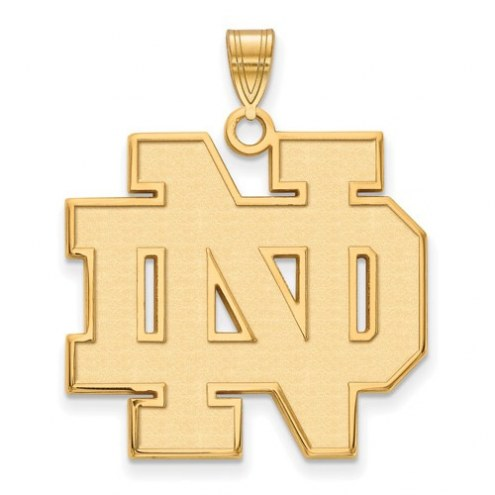 Notre Dame Fighting Irish NCAA Sterling Silver Gold Plated Extra Large Pendant