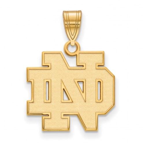 Notre Dame Fighting Irish NCAA Sterling Silver Gold Plated Medium Pendant