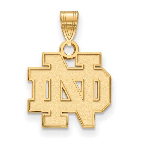 Notre Dame Fighting Irish NCAA Sterling Silver Gold Plated Small Pendant
