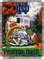Notre Dame Fighting Irish NCAA Woven Tapestry Throw / Blanket
