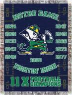 Notre Dame Fighting Irish NCAA Woven Tapestry Throw Blanket