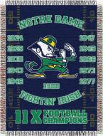 Notre Dame Fighting Irish NCAA Woven Tapestry Throw Blanket