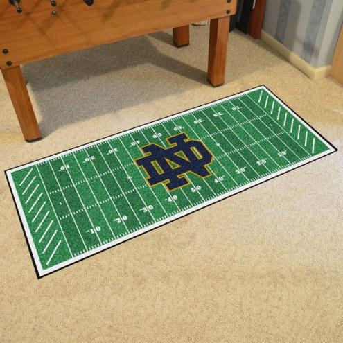 "Notre Dame Fighting Irish """"ND"""" Football Field Runner Rug"