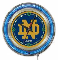 Notre Dame Fighting Irish ND Neon Clock