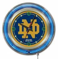 Notre Dame Fighting Irish ND Neon Clock