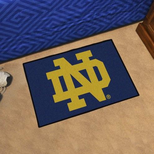 """Notre Dame Fighting Irish """"ND"""" Starter Rug"""